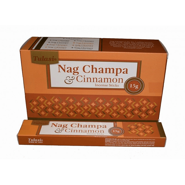 Incienso Natural Canela Nag Champa Tulasi