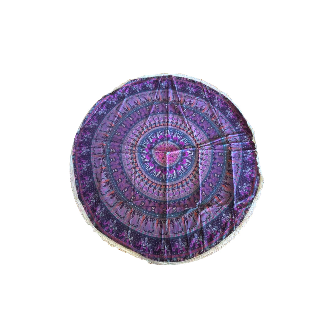 Pareo - Cubre cama mandala  Pink and Purple Animal