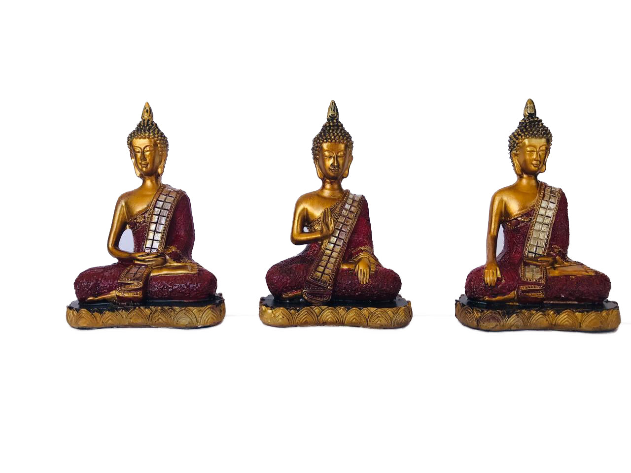 Set de Buda Siddharta Gold&Red