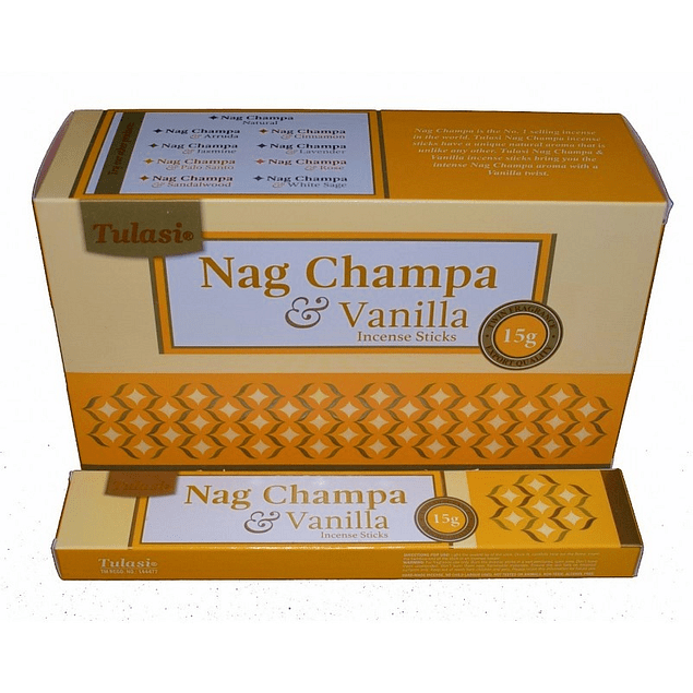 Incienso Natural Vainilla Nag Champa Tulasi