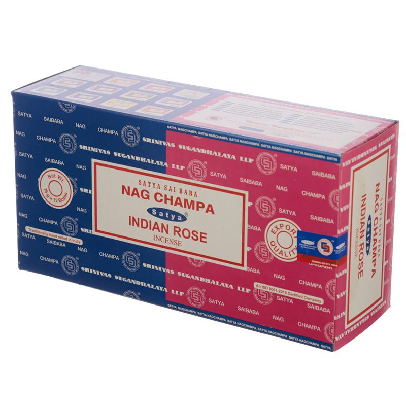 Incienso dúo Nag Champa y Indian Rose