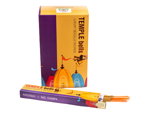 Incienso Natural Temple Bells - Nag Champa + Patchouli