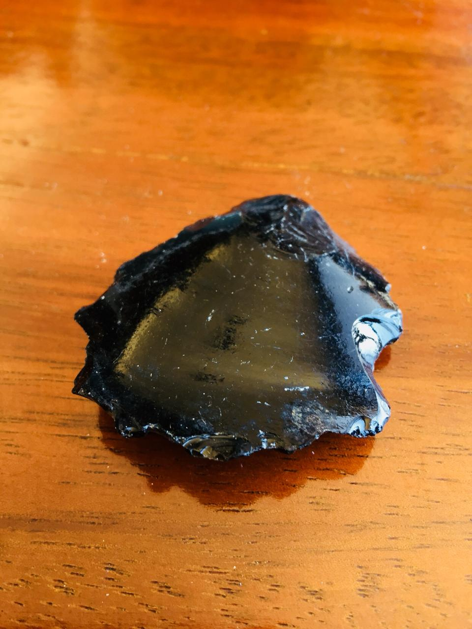 Piedra Natural Obsidiana Negra