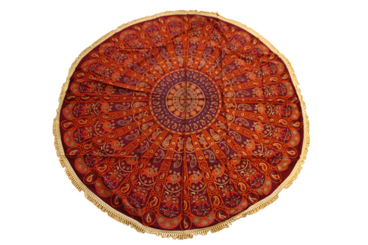 Pareo - Cubrecama Mandala red and purple