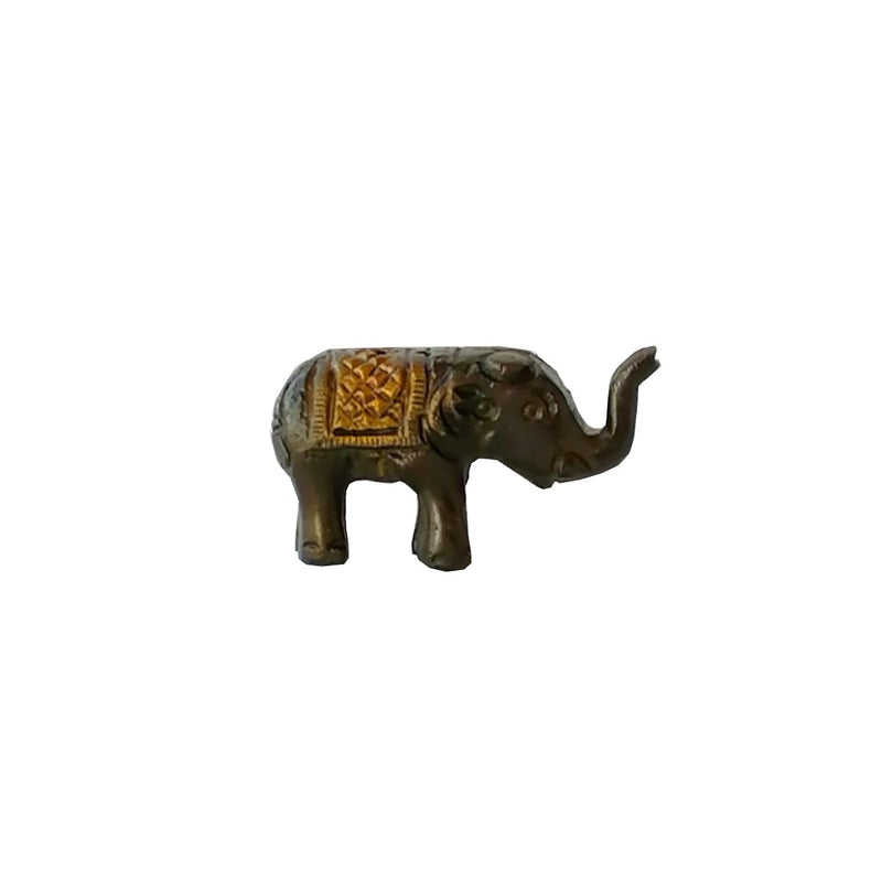 Porta Incienso Elefante Doble Bronce Mini
