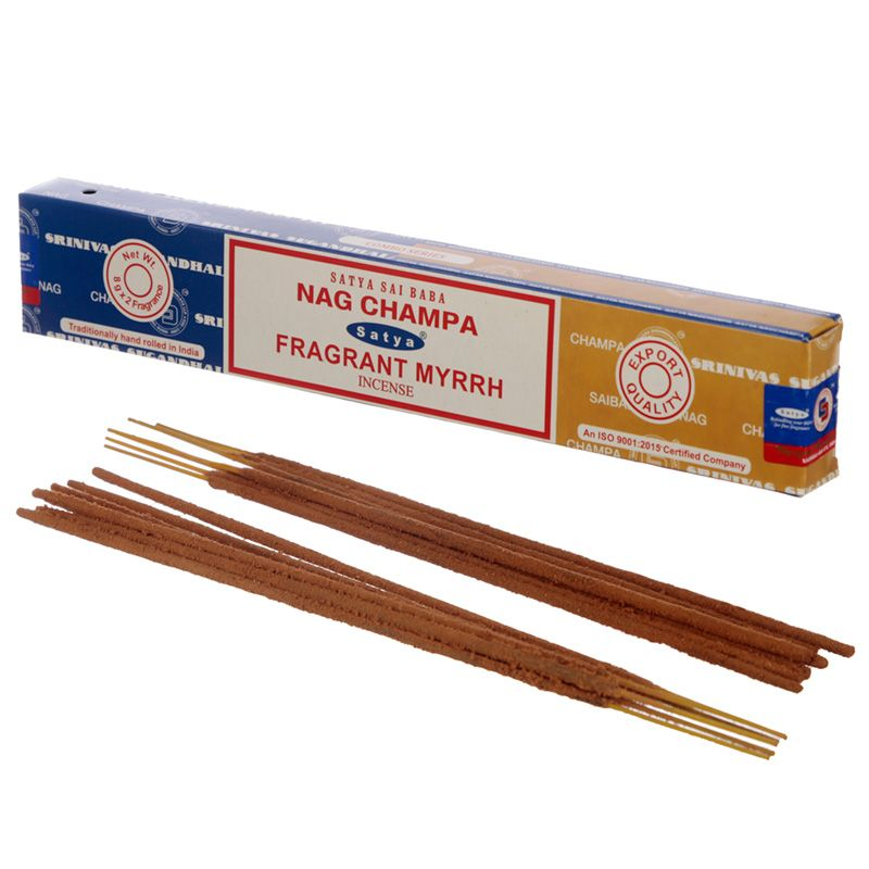 Incienso dúo Nag Champa y Fragrant Mirra