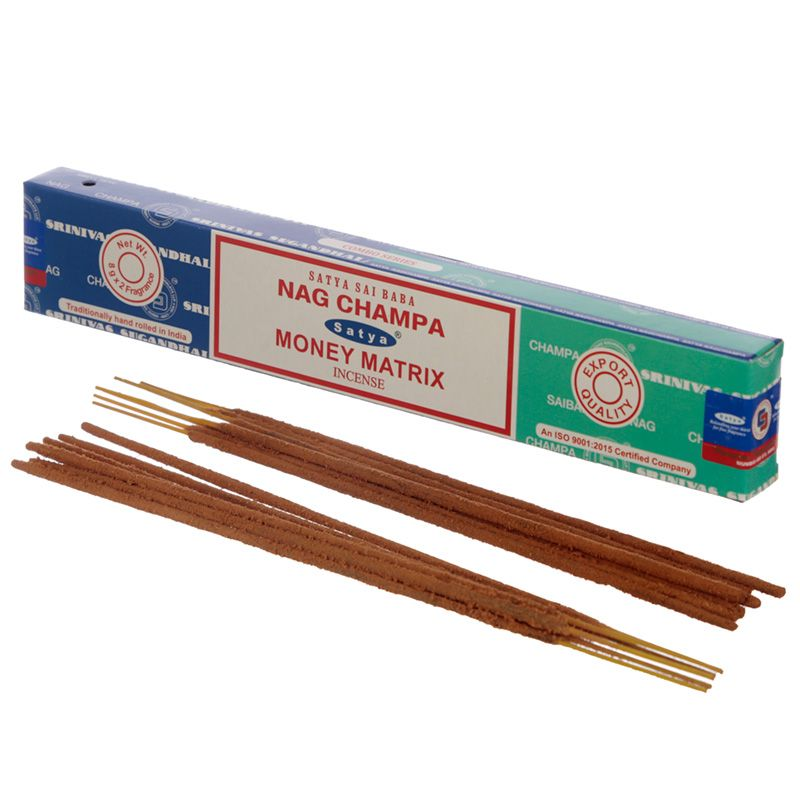 Incienso dúo Nag Champa y Money Matrix