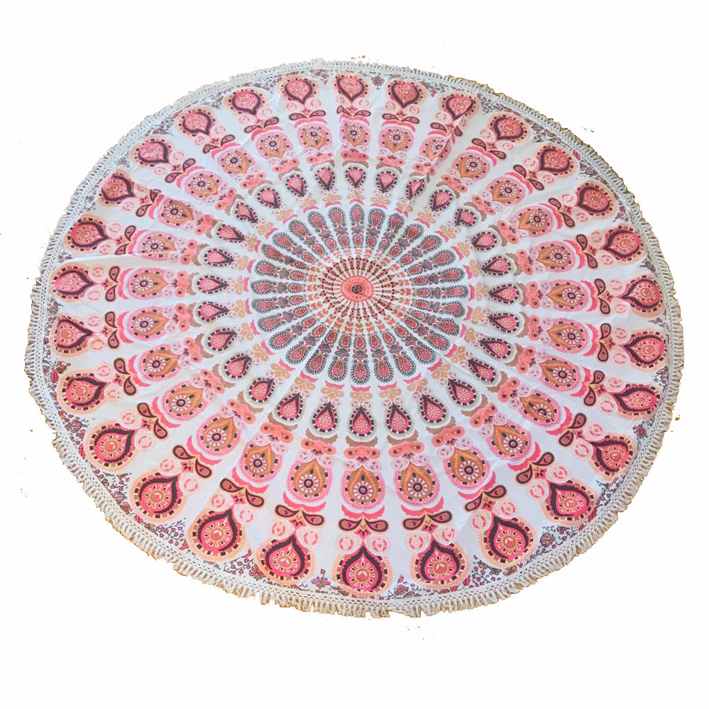 Pareo - Cubre cama mandala Pink and Orange Design