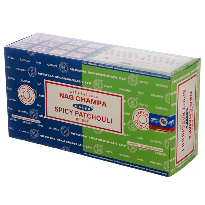 Incienso dúo Nag Champa y Spicy Patchouli
