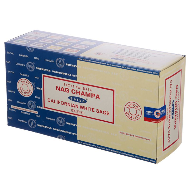Incienso dúo Nag Champa y Californian White Sage