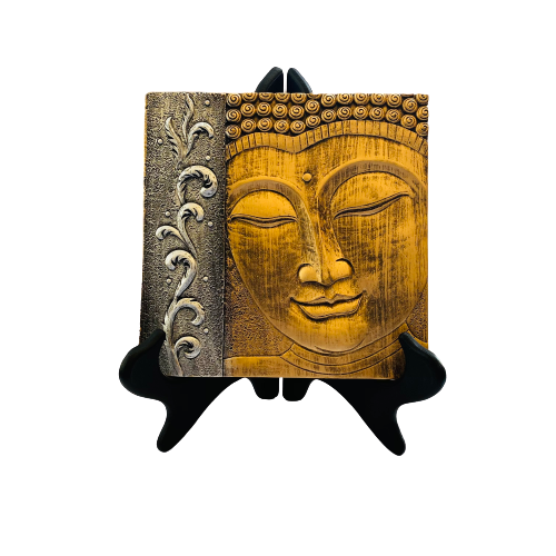 Adorno Cara Budda GOLD AND SILVER