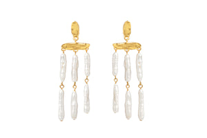CECILE GOLD - PEARL EARRINGS