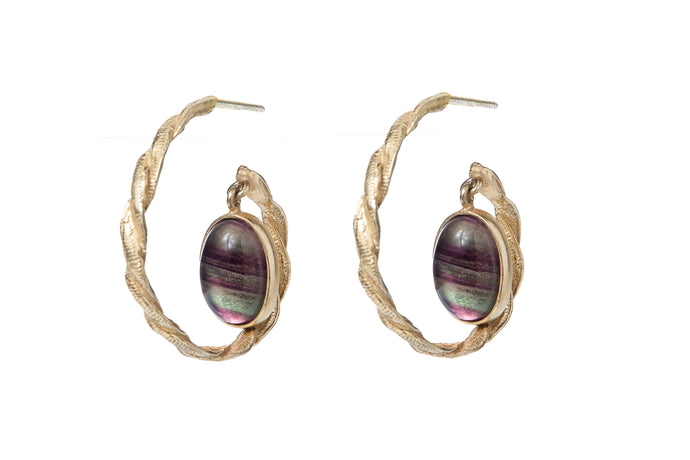 Celine Earrings - Fluorite