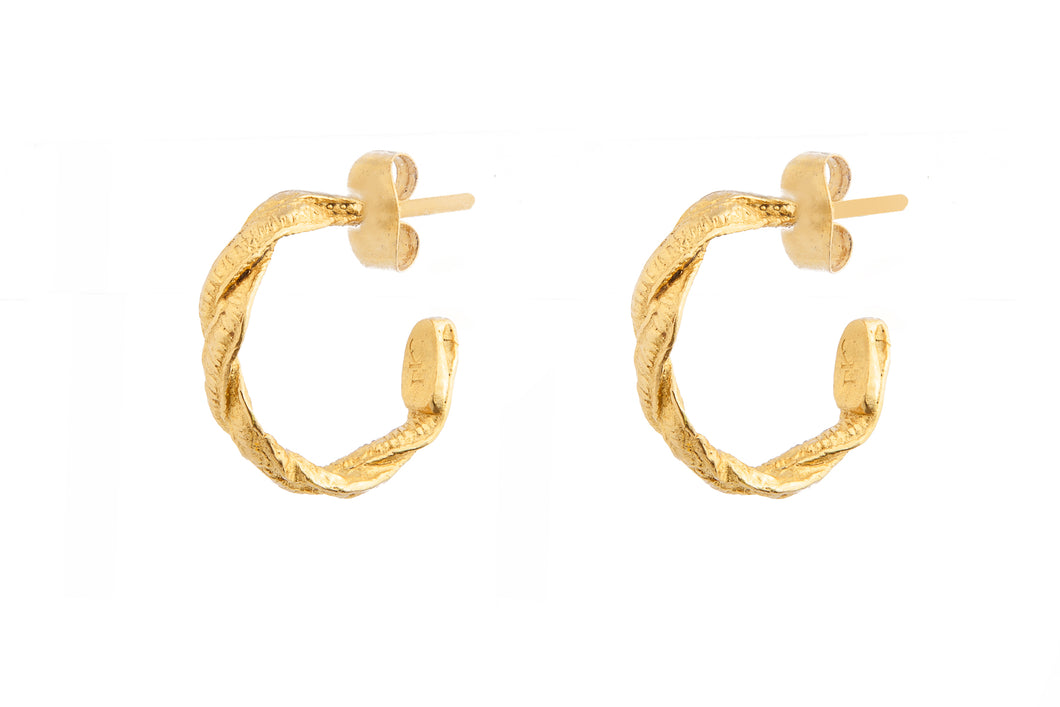 CELINE GOLD HOOPS - S