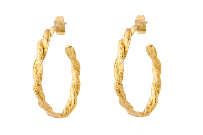 CELINE GOLD HOOPS - L