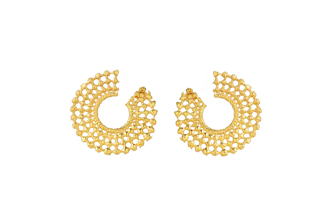 DORE GOLD HOOPS EARRINGS