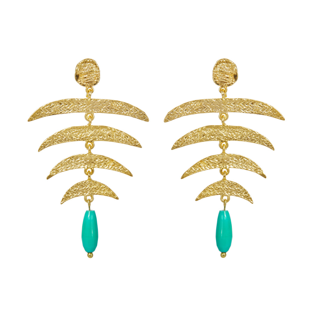 SIENA EARRINGS CHRYSOPRASE
