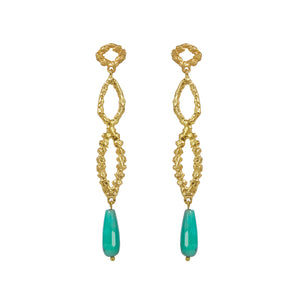 INEZ EARRINGS CHRYSOPRASE
