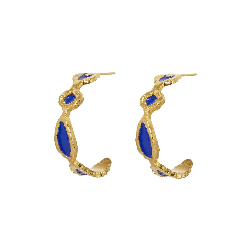 AILEEN EARRINGS BLUE ENAMEL