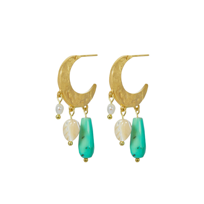 IRIS EARRINGS CHRYSOPRASE