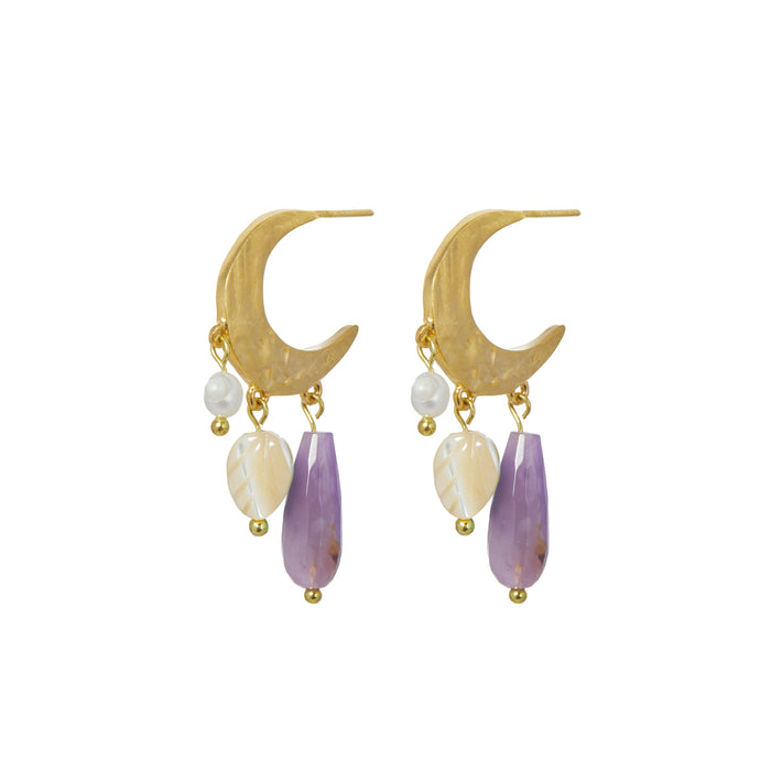 IRIS EARRINGS AMETHYST