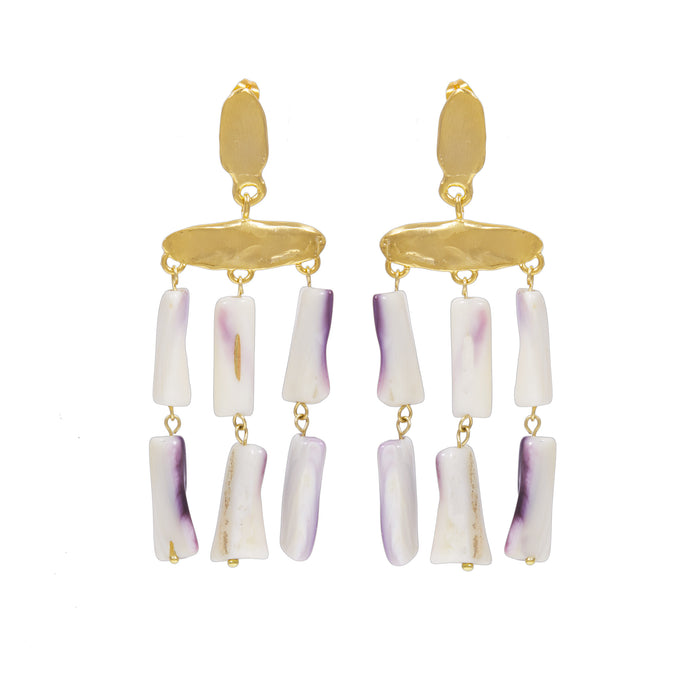 CECILE EARRINGS NATURAL SHELL