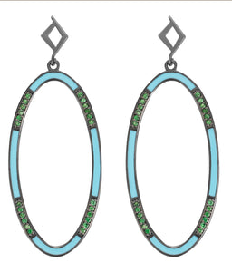 ELLIPSE TURQUOISE EARRINGS