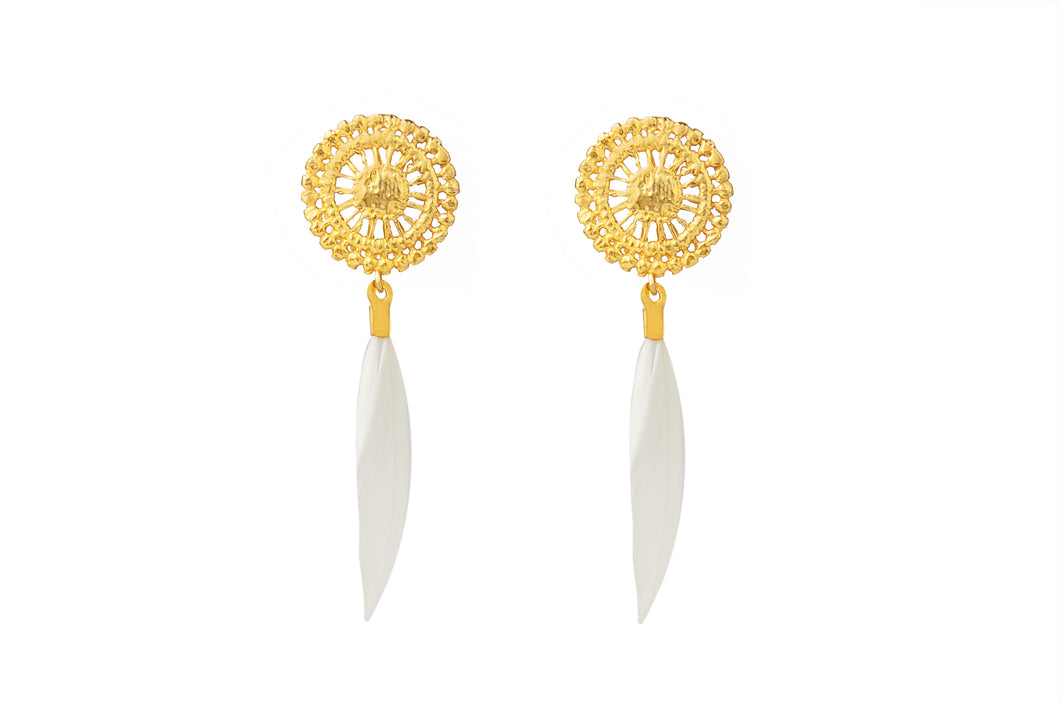 FAY GOLD - WHITE EARRINGS