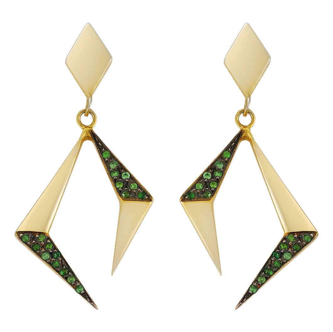HENAGON GOLD EARRINGS