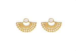 LYDIA GOLD - PEARL EARRINGS