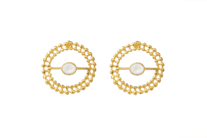 MYRTLE GOLD - PEARL EARRINGS