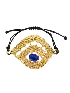 MYSTIQUE GOLD - METALLIC BLUE STONE BRACELET