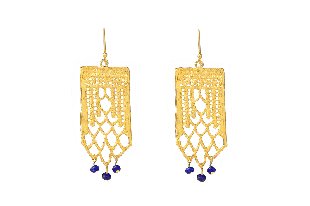 PHOENIX GOLD - BLUE EARRINGS