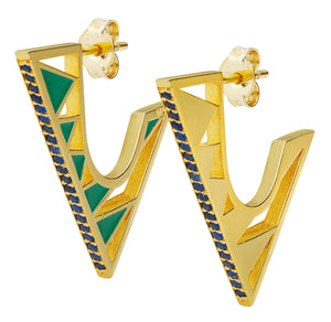 PRISMA GREEN EARRINGS