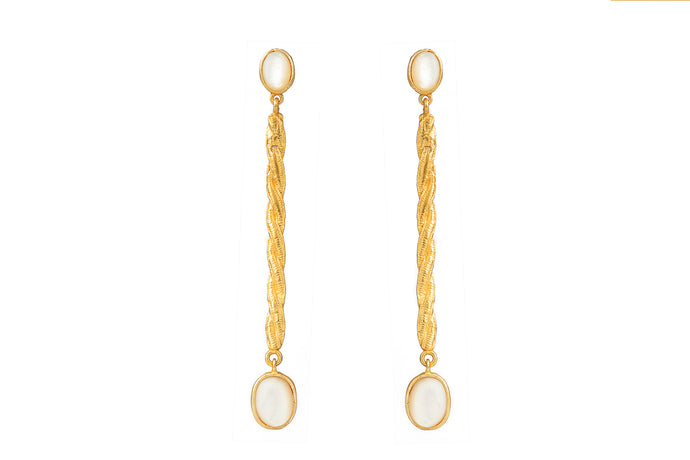 TORI GOLD - PEARL EARRINGS