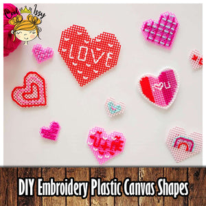 DIY Embroidery Plastic Canvas Shapes