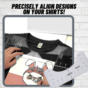 [PROMO 30% OFF] PrintPerfect™ T-Shirt Ruler Guide Set