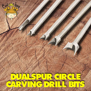 DualSpur Circle Carving Drill Bits