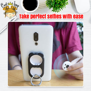 Bluetooth Remote Controlled Phone Ring Holder