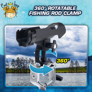 360° Rotatable Fishing Rod Clamp