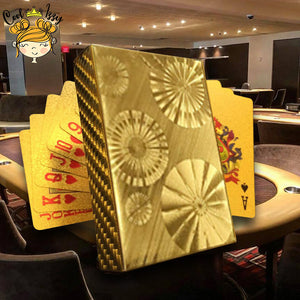 24K Gold Foil Poker & Gaff Cards