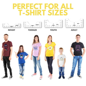 [PROMO 30% OFF] Precise T-Shirt Ruler Guide Set (4pcs)