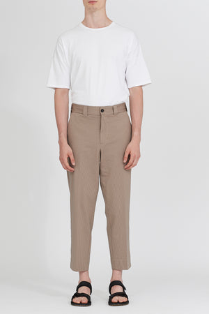 Men relaxed trousers Coolmax Seersucker