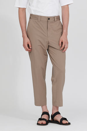 Relaxed coolmax seersucker trousers