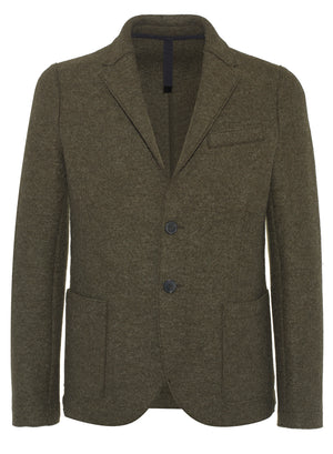 2 button blazer pressed wool