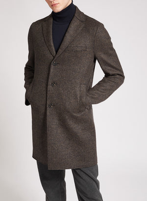 Boxy coat double faced wool