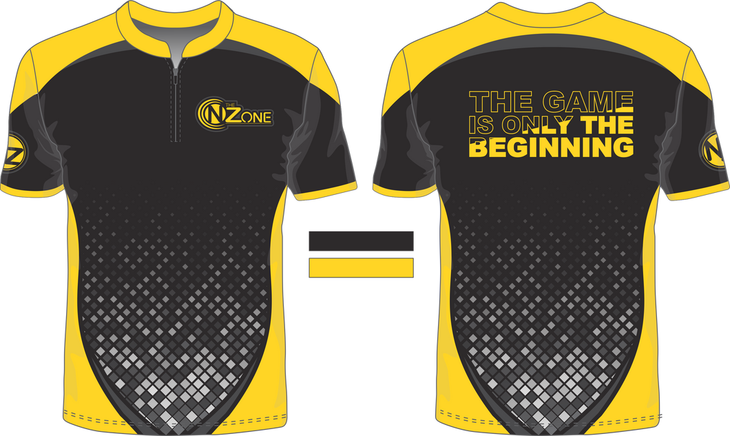 Ladies Black and Yellow Jersey