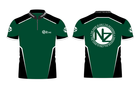 Ladies NZ Green and Black Jersey