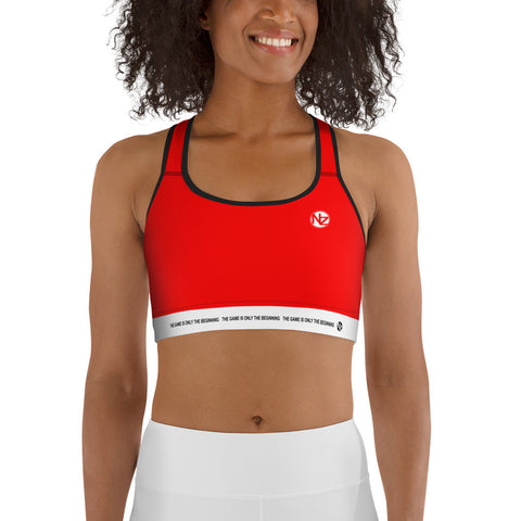 NZ Zone Red Sports Bra