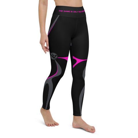 NZ Black-Pink Leggings w/Pockets